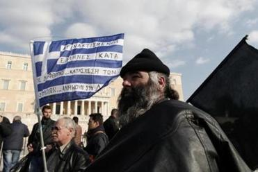 After Greece instituted tax hikes, demonstrators rallied outside Parliament against the increases, claiming that they were being driven out of business.